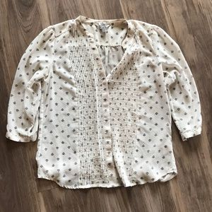 Sheer button down blouse